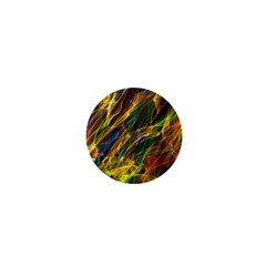 Colourful Flames  1  Mini Button Magnet by Colorfulart23