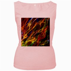 Colourful Flames  Women s Tank Top (pink) by Colorfulart23