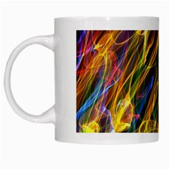 Colourful Flames  White Coffee Mug by Colorfulart23