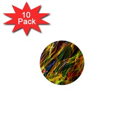Colourful Flames  1  Mini Button (10 Pack) by Colorfulart23