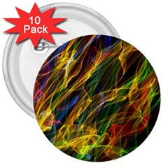 Colourful Flames  3  Button (10 Pack) by Colorfulart23