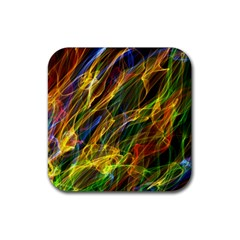 Colourful Flames  Drink Coasters 4 Pack (Square)