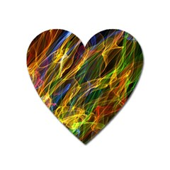 Colourful Flames  Magnet (heart) by Colorfulart23