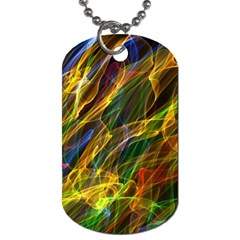 Colourful Flames  Dog Tag (one Sided) by Colorfulart23