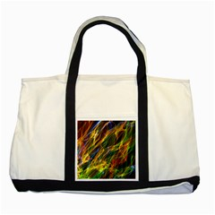Colourful Flames  Two Toned Tote Bag by Colorfulart23