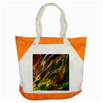 Colourful Flames  Accent Tote Bag Front