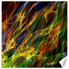 Colourful Flames  Canvas 12  X 12  (unframed) by Colorfulart23