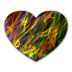 Colourful Flames  Mouse Pad (heart) by Colorfulart23