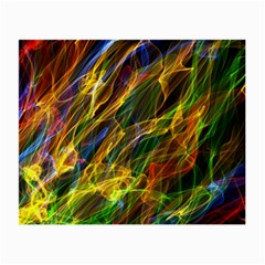Colourful Flames  Glasses Cloth (small, Two Sided) by Colorfulart23