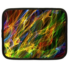 Colourful Flames  Netbook Sleeve (large) by Colorfulart23