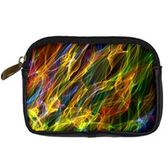 Colourful Flames  Digital Camera Leather Case by Colorfulart23