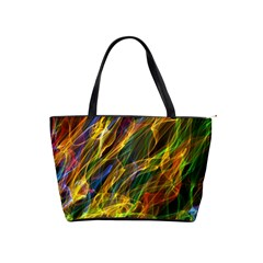 Colourful Flames  Large Shoulder Bag by Colorfulart23