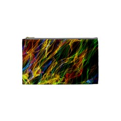 Colourful Flames  Cosmetic Bag (small) by Colorfulart23