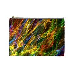 Colourful Flames  Cosmetic Bag (large) by Colorfulart23