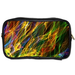 Colourful Flames  Travel Toiletry Bag (two Sides) by Colorfulart23