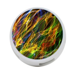 Colourful Flames  4 Port Usb Hub (two Sides) by Colorfulart23
