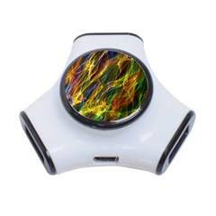 Colourful Flames  3 Port Usb Hub by Colorfulart23
