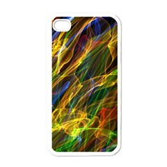 Colourful Flames  Apple Iphone 4 Case (white) by Colorfulart23