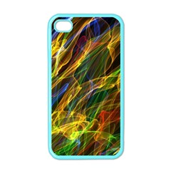 Colourful Flames  Apple Iphone 4 Case (color) by Colorfulart23