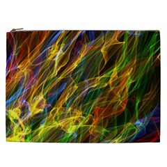Colourful Flames  Cosmetic Bag (xxl) by Colorfulart23