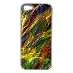 Colourful Flames  Apple Iphone 5 Case (silver) by Colorfulart23