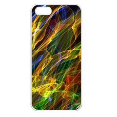 Colourful Flames  Apple Iphone 5 Seamless Case (white) by Colorfulart23