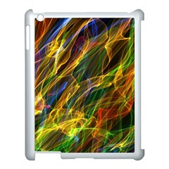 Colourful Flames  Apple Ipad 3/4 Case (white) by Colorfulart23