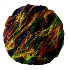 Colourful Flames  18  Premium Round Cushion  by Colorfulart23