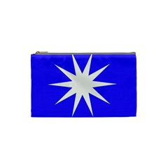 Deep Blue And White Star Cosmetic Bag (Small)