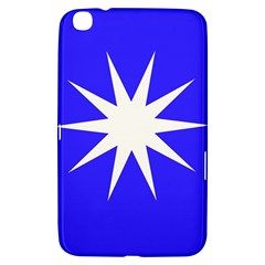 Deep Blue And White Star Samsung Galaxy Tab 3 (8 ) T3100 Hardshell Case  by Colorfulart23