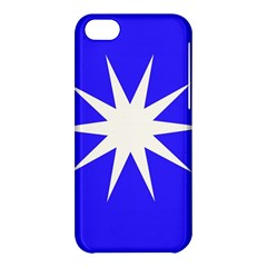 Deep Blue And White Star Apple Iphone 5c Hardshell Case by Colorfulart23