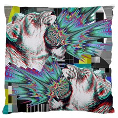 Lioness Glitch Large Cushion Case (single Sided)  by Contest1831200