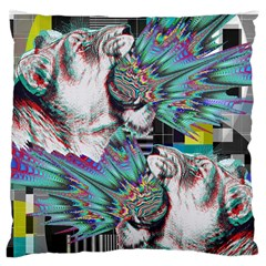 Lioness Glitch Large Cushion Case (two Sided)  by Contest1831200