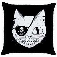 Cat Pirate s Life For Me Black Throw Pillow Case