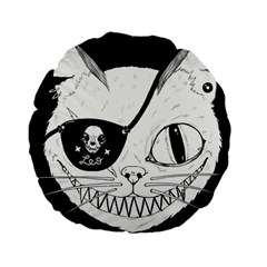 Cat Pirate s Life For Me 15  Premium Round Cushion