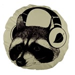 Raccoon 18  Premium Round Cushion  Back