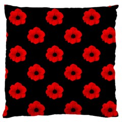 Poppies Large Cushion Case (Two Sided)  by Contest1879409