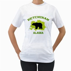 Ketchikan  Ak Women s Two Sided T Shirt (white) by thistimeonly