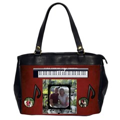 Music Office Bag, 2 Sides By Joy Johns   Oversize Office Handbag (2 Sides)   66986pitcbno   Www Artscow Com Front