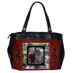 Music Office Bag, 2 Sides By Joy Johns   Oversize Office Handbag (2 Sides)   66986pitcbno   Www Artscow Com Back