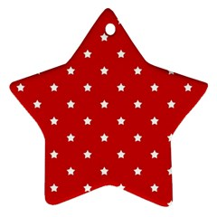 White Stars On Red Star Ornament by StuffOrSomething