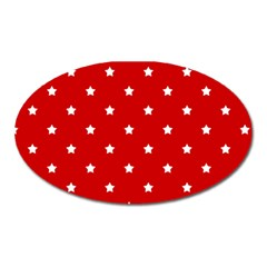 White Stars On Red Magnet (Oval) by StuffOrSomething