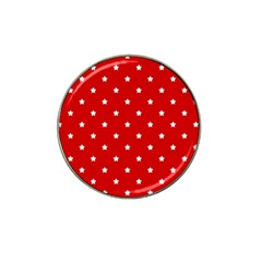 White Stars On Red Golf Ball Marker 10 Pack (for Hat Clip) by StuffOrSomething