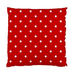 White Stars On Red Cushion Case (two Sided)  by StuffOrSomething