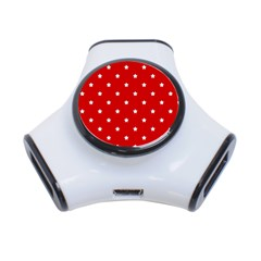 White Stars On Red 3 Port Usb Hub by StuffOrSomething