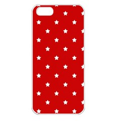 White Stars On Red Apple Iphone 5 Seamless Case (white) by StuffOrSomething