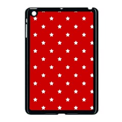 White Stars On Red Apple Ipad Mini Case (black) by StuffOrSomething