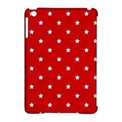 White Stars On Red Apple Ipad Mini Hardshell Case (compatible With Smart Cover) by StuffOrSomething