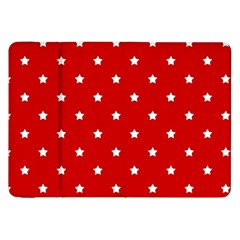 White Stars On Red Samsung Galaxy Tab 8 9  P7300 Flip Case