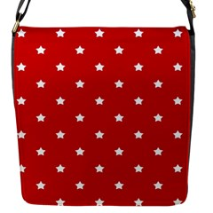 White Stars On Red Flap Closure Messenger Bag (small) by StuffOrSomething